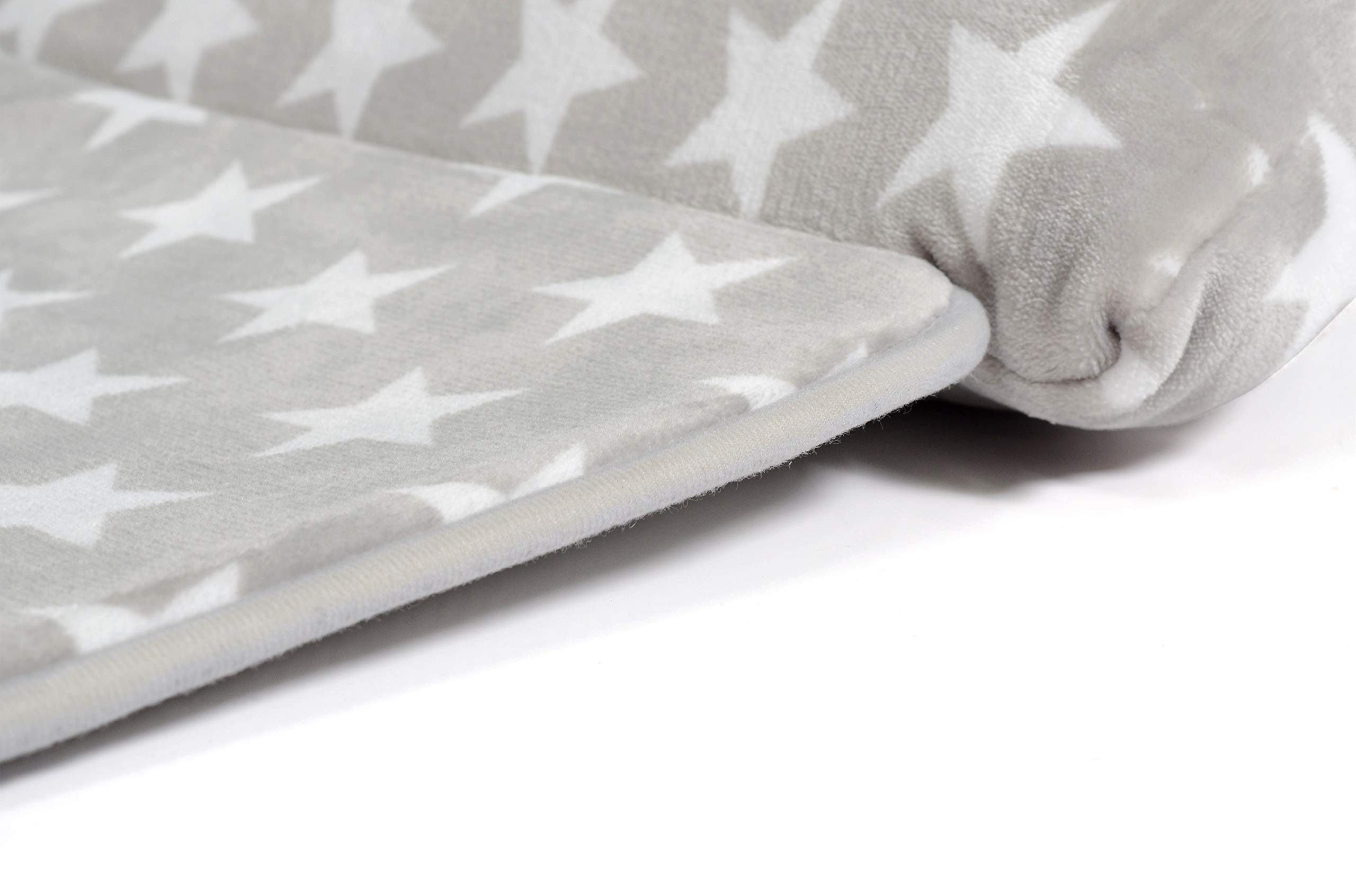 Milliard -Memory Foam- Nap Mat Roll Stars with Fuzzy Blanket and Removable Pillow, Machine Washing for Toddler Daycare Preschool Kindergarten and Sleepovers by Milliard (Image #7)