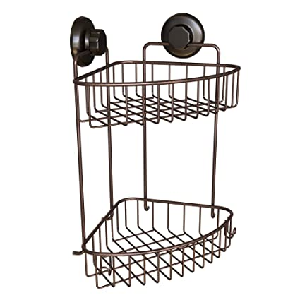 Amazon Com Hasko Accessories Corner Shower Caddy With Suction Cups