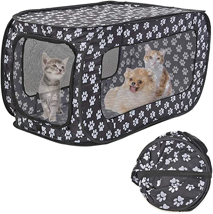 Corral de tela suave y portátil, plegable, para cachorros, gatos, conejos, cobayas, hámsters, jaulas, para interiores y exteriores