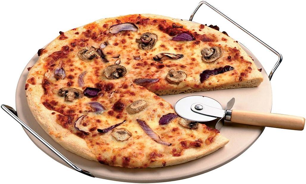 """KitchenWorthy 13"""" Pizza Stone Set"""