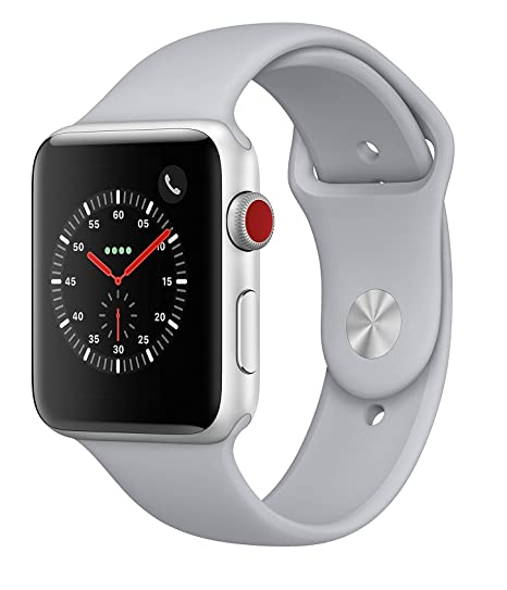 a491dcf407a3a Amazon.com  Apple Watch Series 3 38MM Smartwatch (GPS + Cellular 4G LTE) -  Silver (Renewed)  Cell Phones   Accessories