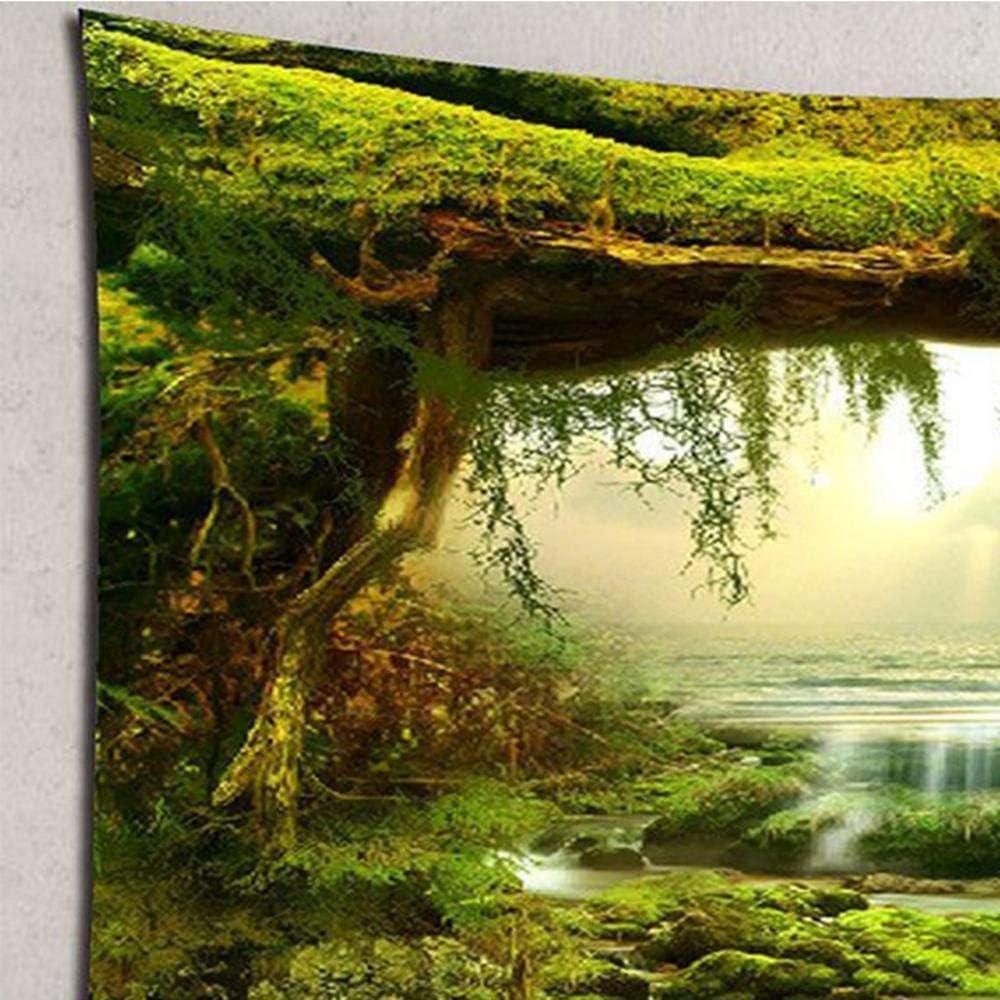 Poliestere,180x180CM Da appendere alla parete arazzo hippie stampa mandala indiano arazzo decorativo da appendere alla parete arte arazzo spiaggia lenzuolo lenzuolo tovaglia da spiaggia verde