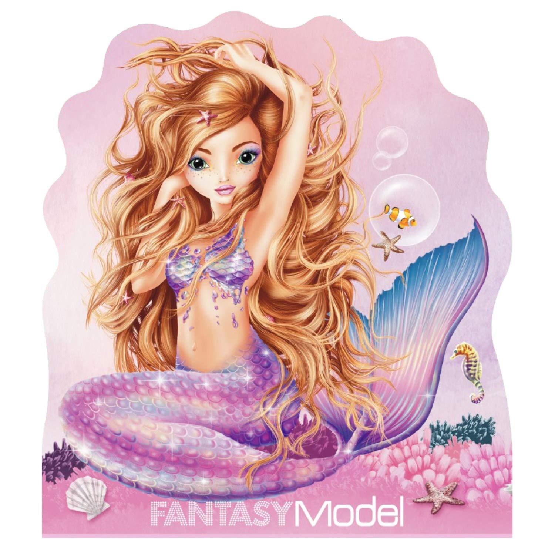 Depesche 10474 Notizblock Fantasy Model Mermaid bunt Sortiert 12 x 10,5 x 1 cm ca