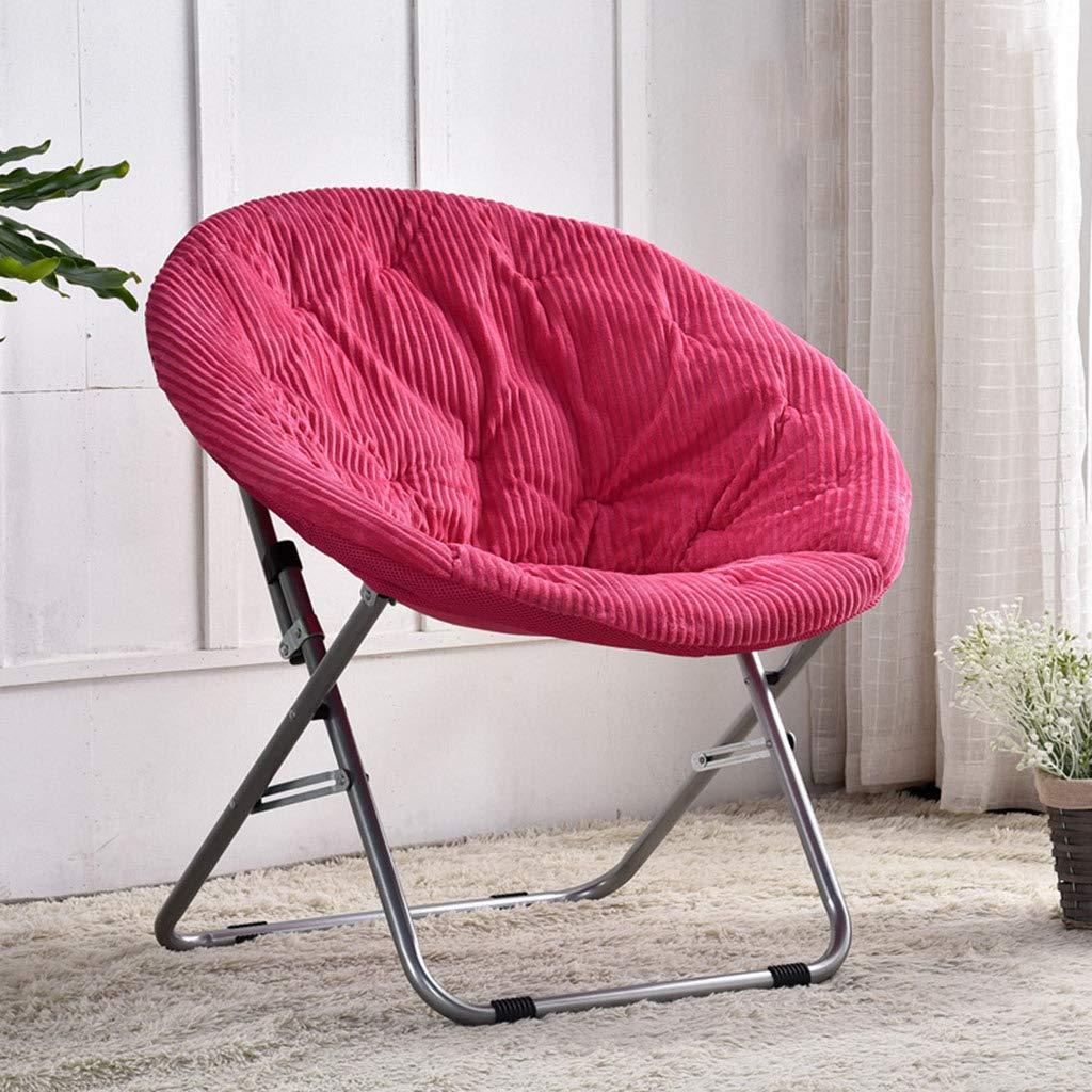 Chaise pliante lune décontractée Pliante chaise paresseuse salon bureau portant forte (détachable) (Couleur : B)