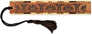 product image for Victorian Floral Design - Laser Engraved Wooden Bookmark with Tassel - Search B07QC9G3XG to See Personalized Version