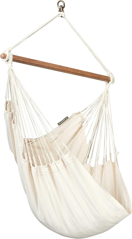 Amazon Com La Siesta Modesta Latte Organic Cotton Basic Hammock Chair Garden Outdoor