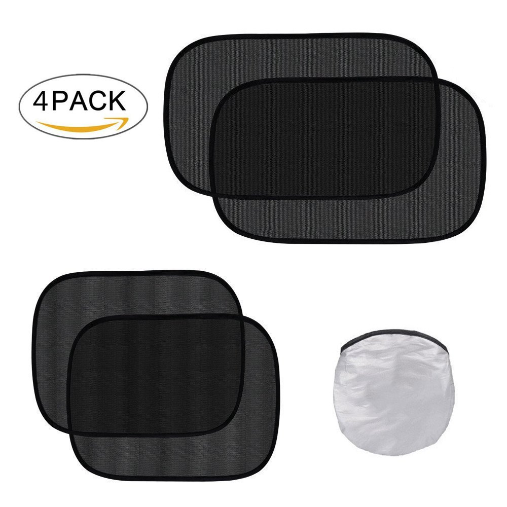 80 GSM Maximum UV//Sun//Glare Protection Kids,2 Pack 20x12 2 Pack 17x14 Fit to Side Rear Windows Airydar Car Sun Shade 4 Pack Cling Car Side Windows Sunshade Baby,Car Sunshades Protector