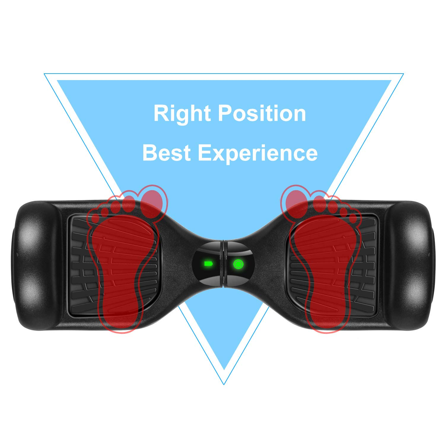 SWEETBUY Hoverboards UL Certified 6.5 Smart Scooter Two-Wheel self Balancing Electric Scooter Light Free Bag and Charger Included by SWEETBUY (Image #6)