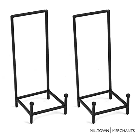 Milltown Merchants Trade Metal Display Stand – Plate Stand Plate Holder – Black Metal Plate Stand – Portable Display Rack for Trade Shows, Office, or Home 2 Pack, Large Chair Stand