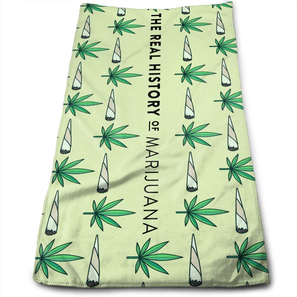 huibe Microfibra de Marihuana Toallas limpias Toallas para el Rostro Secado rápido Toallas para el Cabello para baño, SPA, Gimnasio 30x70 cm Sport Workout Toallas para Autos