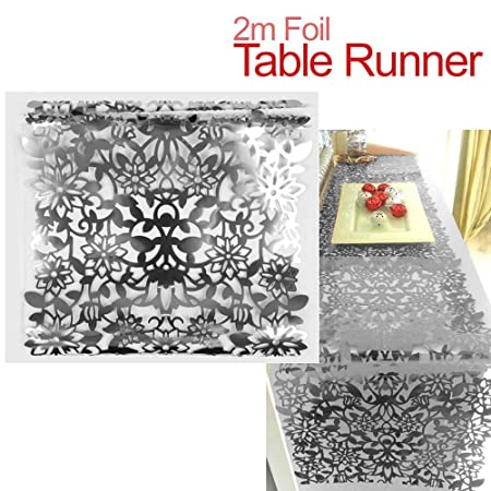 Surprising Foil Christmas Table Runner 2 Pack Features A Cut Out Interior Design Ideas Gentotryabchikinfo