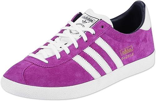 Lilaweiß Originals Cuero De W Gazelle Adidas Mujer Zapatillas Og 8qfaFan7