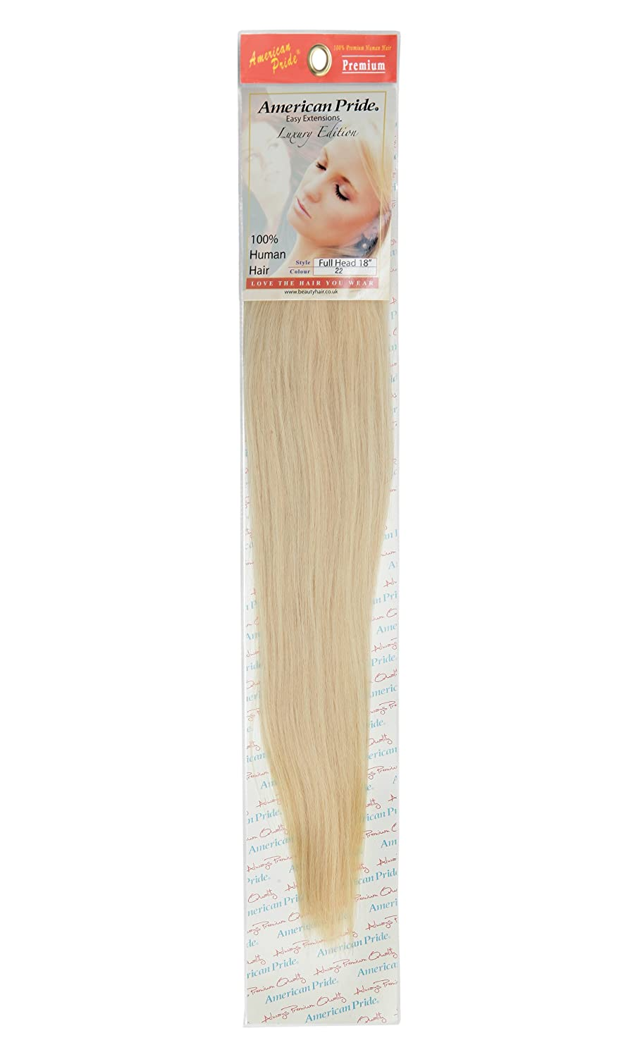 Amazon Clip In Human Hair Extensions Full Head 18 Inch Blondie