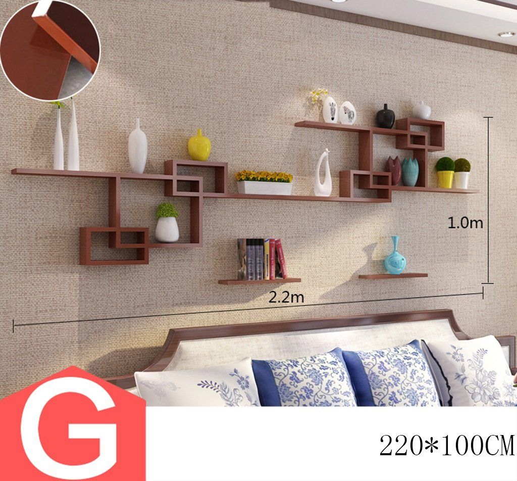 XZG Wohnzimmer-dekorativer Rahmen, kreatives Wandregal-Schlafzimmer ...