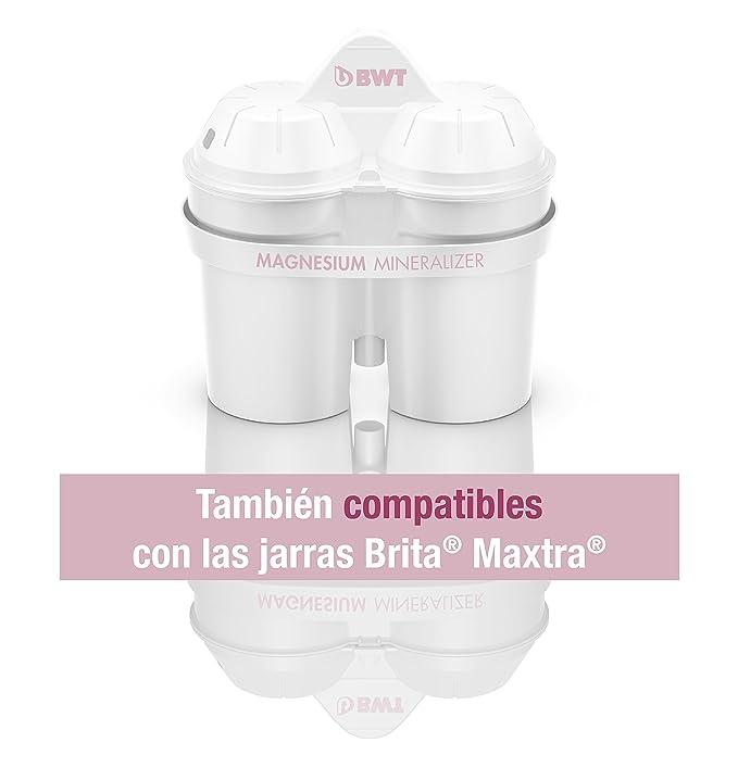 BWT Magnesium Mineralizer Pack 12 filtros Jarra de Agua con magnesio Longlife mg2+, Blanco, 12.2 cm: Amazon.es: Hogar
