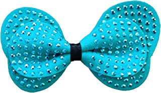 product image for Diva-Dog Blue Butterfly Studded Suede Dog Collar Bow (Removable)