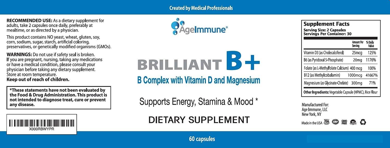 Amazon.com: Suplementos complejos de vitamina B con B6, D ...