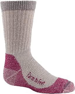 product image for Farm to Feet Kid's Boulder Lightweight Hiking Socks, Platinum/Berry, Medium