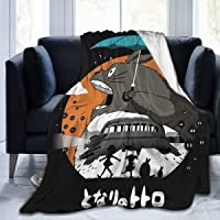 My Neighbor Totoro - My Neighbor My Neighbor Totoro Flannel Blanket Super Soft Hypoallergenic Plush Bed Couch Living…