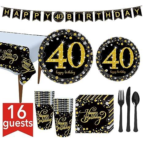 WE-WIN 114 Piezas 21, 30, 40, 50, 60 cumpleaños, Suministros ...