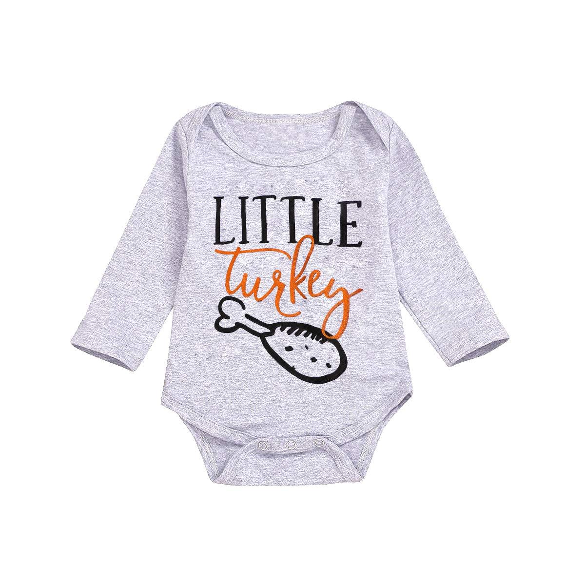 Boys Shirts for Kids Newborn Boys Girls Thanksgiving Outfit Little Turkey /& Big Turkey Matching Clothes