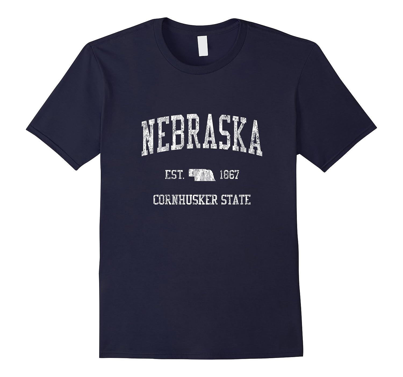Retro Nebraska T Shirt Vintage Sports Tee Design-FL