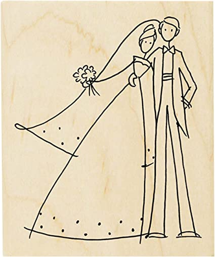 33-05 to have and to hold-wedding stamp-wood mounted rubber stamp-