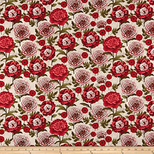 - Springs Creative Products Springs Creative French Rooster Flower Stems Red Fabric by The Yard,