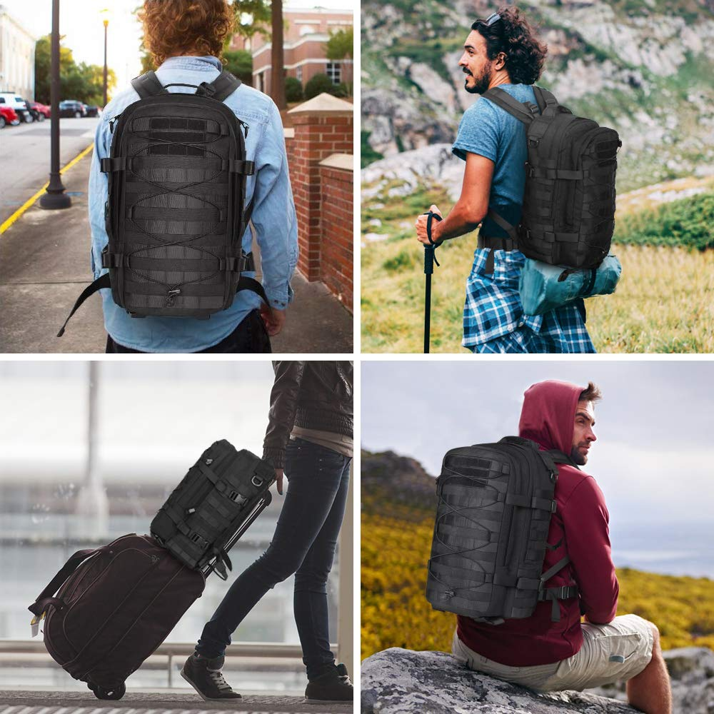 AIRSOFTPEAK Tactical Backpack Military Assault Pack Army Molle Bug Out Bag 1000D Nylon Daypack for Camping Hiking Travel by AIRSOFTPEAK (Image #7)