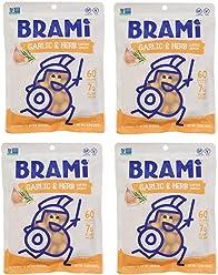 BRAMI Lupini Bean Snack, Garlic & Herb | Plant Protein, Vegan, Gluten-Free, Low Calorie, Zero Net Carb, Keto, Lightly Pickled, Mediterranean Legume | 5.3oz (150g), 4 Count