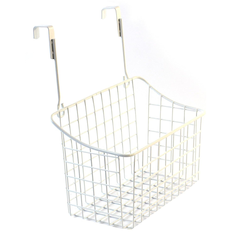 Panier /à suspendre /à lint/érieur dun placard Pour un gain de place dans la cuisine En m/étal blanc pour rangement d/épices et de nourriture