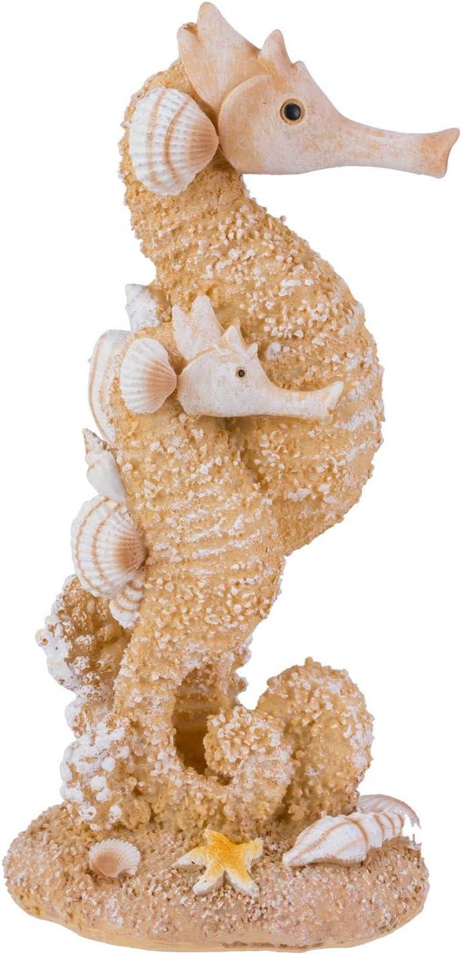 """Beachcombers SS-BCS-04351 6"""" Double Seahorse Figure"""