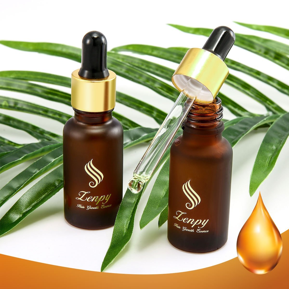 Zenpy Hair Growth Essence Oil Strengthens Hair Roots Grow Longer Anti Hair Loss & Hair Thinning Treatment Hair Serum Professional Hair Care Styling Products -20ml by Zenpy (Image #5)