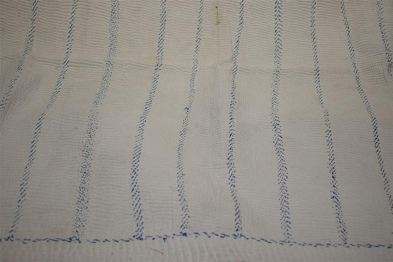 ヴィンテージコットンKanthaキルトIndianツインベッドスプレッドBlanket Throw gudari112 B078CQJ2Q3