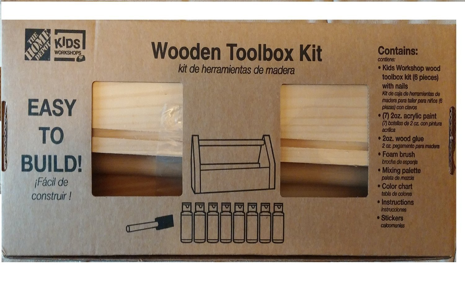 Amazon Com Easy To Build Wooden Tool Box And Paint Kit Toys Games