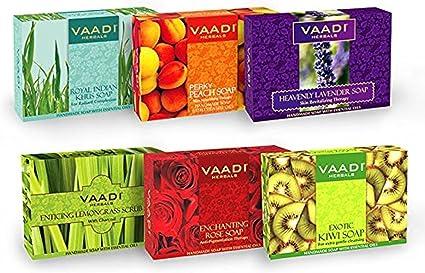 Exotic floavors – Pack de 6 Lujo Orgánico hecho a mano Herbals jabones (aromaterapia) con 100% Pure aceites esenciales – All Natural – Previene Prematuro Envejecimiento: Amazon.es: Belleza