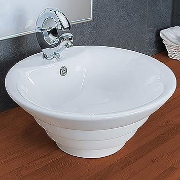 Keller Waschbecken Rund Aufsatz Waschbecken Badezimmer KR134: Amazon ...
