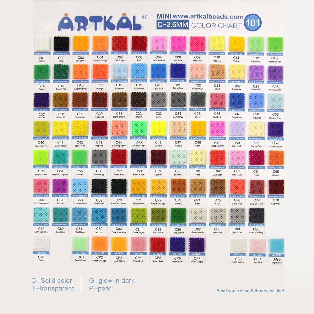 C color chart color chart download free printable coloring pages amazon com mini artkal beads c 2 6mm full colors 101 bags cb1000 rh amazon com color chart download color chartreuse nvjuhfo Gallery