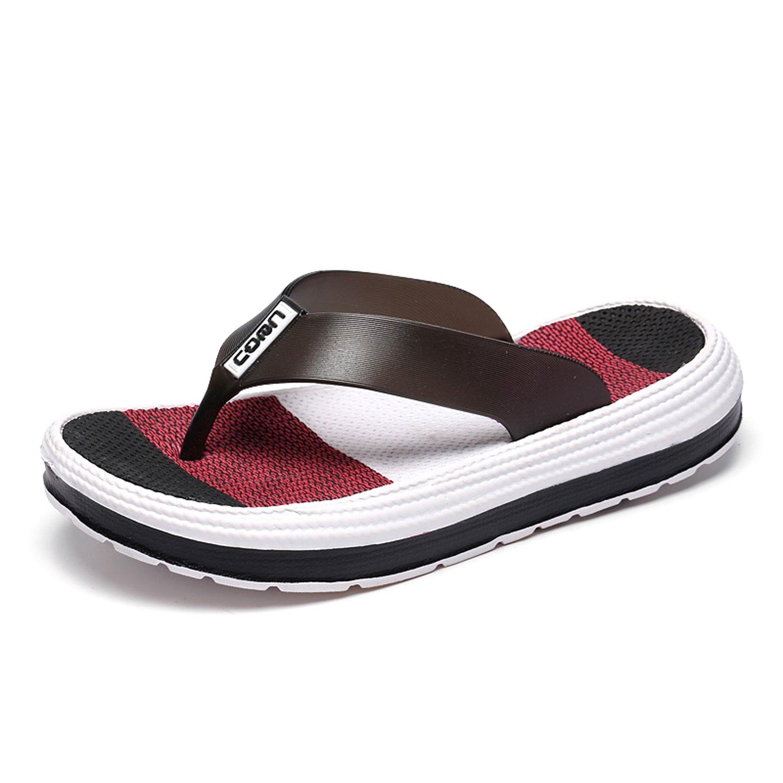 Sintiz Women's Flip Flops Thong Sandals Comfort Walking Slippers Casual Beach Wear Ladies Falt Shoes Black 6 (B) M US