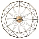 YAKOK 60CM Large Wall Clock Silent Metal Iron Wall Clocks Simple Creative Clock for Living Room, Kitchen, Bedroom, Office (Black and Gold)