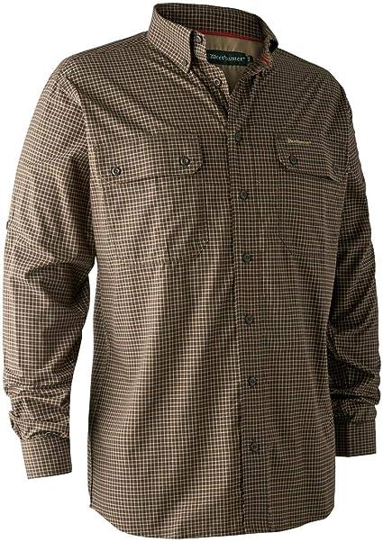 Deerhunter Callum - Camisa de bambú, diseño de Cuadros Verdes: Amazon.es: Deportes y aire libre