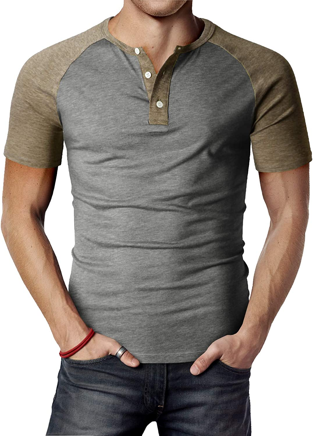 H2H Men Casual Slim Fit T-Shirt Short Sleeve Lightweight Shirt