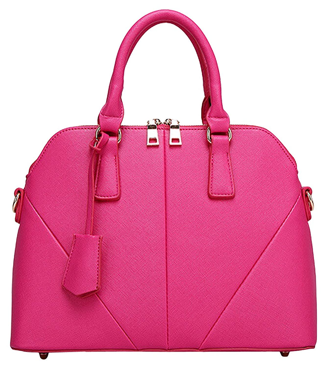 Pinklily Women's Hobo Carrier Shall Handbag Rose Red One Size