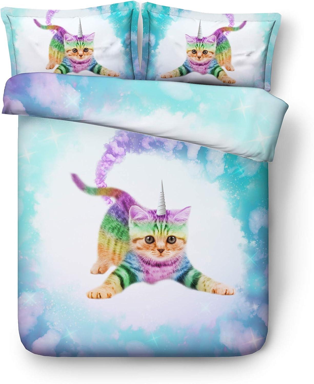 Cat Kids Bedding Sets Sale Ranking TOP4 special price EsyDream Galaxy Unicorn Duvet Cov