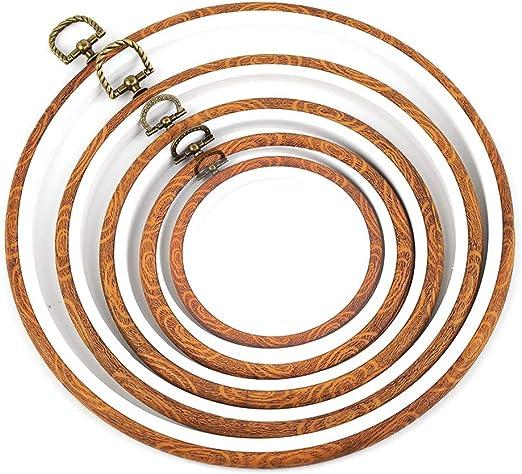 4 Gr/ö/ßen 4 St/ück Kreuzstiche Stickerei Band Ring Rahmen Bambus N/ähen