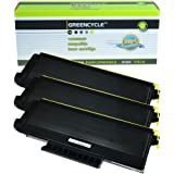 Greencycle 3 PK Compatible TN580 TN620 TN650 Black Toner Cartridge For Brother HL-5280DW HL-5250 Printer