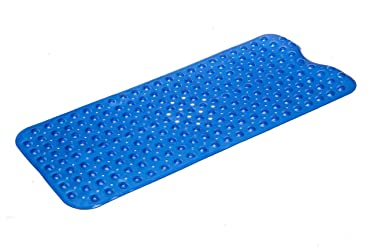 "Simple Deluxe Anti-Bacterial Anti-Slip-Resistant Bath Mat, 16"" W x 39"" L, Extra Long"
