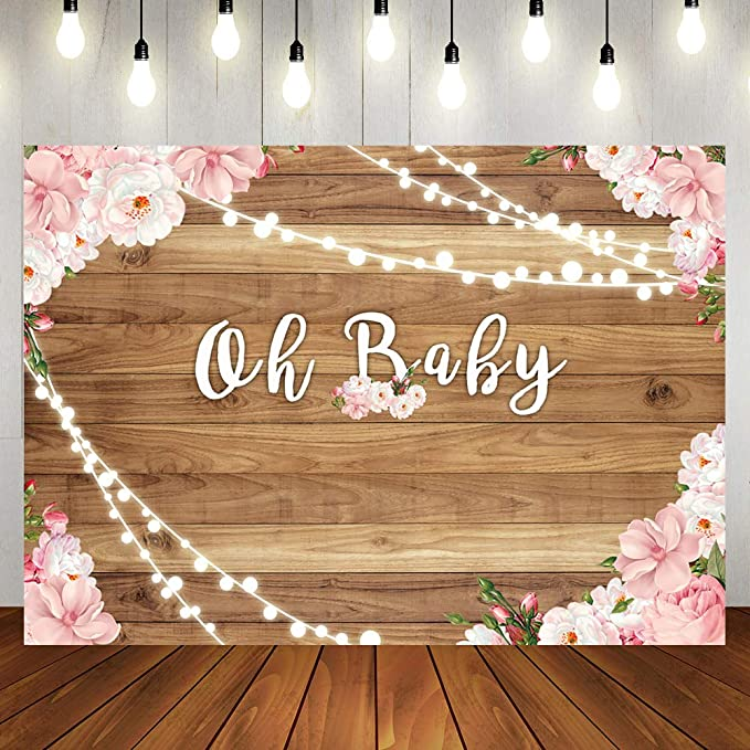 New Light Purple Wood Backdrops for Photography 7x5 Watercolor Wooden Baby Shower Backdrop for Girl Personalized Happy 1st Birthday Photo Background for Kids Parties