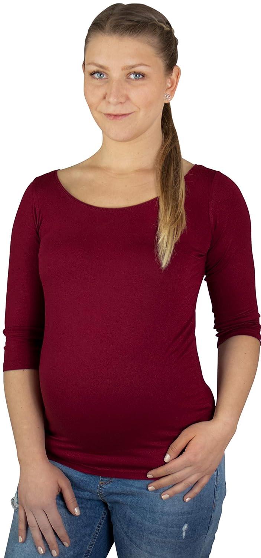 Maternity-T-Shirt und Schwangerschaft-Langarmshirt Mutterschaft-Tr/ägertop Evagreen Umstandstop Umstandsmode f/ür die Stillzeit