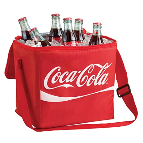 d4c8ae6488bb Amazon.com  Coca Cola 12 Can Insulated Soft Cooler Bag  Reusable ...